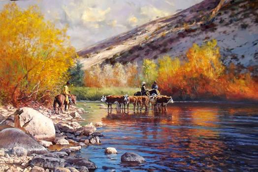 'Break' - 60 x 48 Oil on Canvas By Robert Hagan