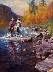 'Your Turn' Oil on Canvas - By Robert Hagan