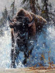 'Charge' - Oil on Canvas By Robert Hagan