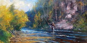 'The Waiting Game' - Oil on Canvas By Robert Hagan