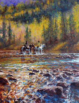 'The Crossing' - Oil Color By Robert Hagan