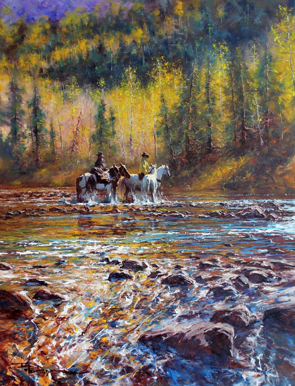 Color art facebook -  Crossing Oil Color By Robert Hagan By Robert Hagan