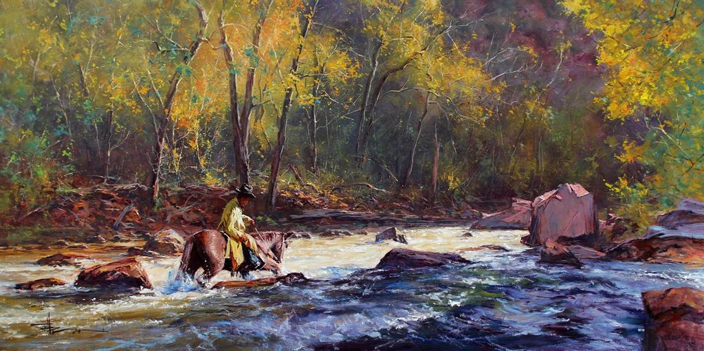 'The Crossing' - Oil On Canvas by Robert Hagan by robert-hagan