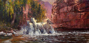 'Valley Bolt' - Oil on Canvas by Robert Hagan