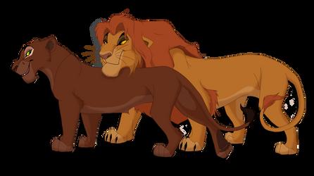 Uru and Ahadi by Red-Cayenne