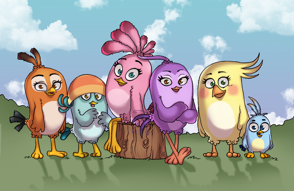 Stella And Friends by AngryBirdsArtist