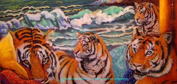 Tiger detail by FlemishMonkey