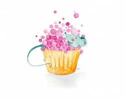 Bubblebath Cupcake by Angela-Vandenbogaard