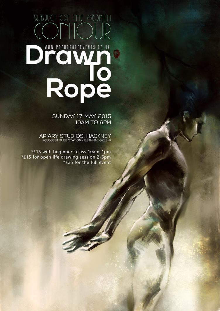 drawnToRope 004 Poster A by RedPandaDee