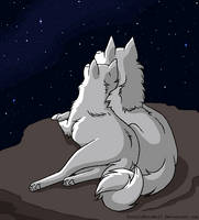 Stargazing couple base MSpaint by TotallyNotaWolf