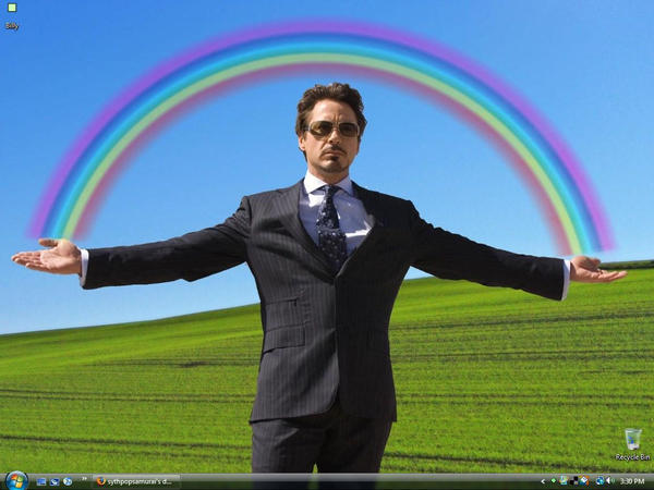 tony stark under the rainbow by sythpopsamurai