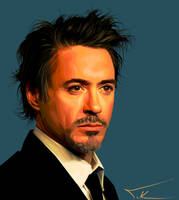 Robert Downey Jr portrait by TKadak