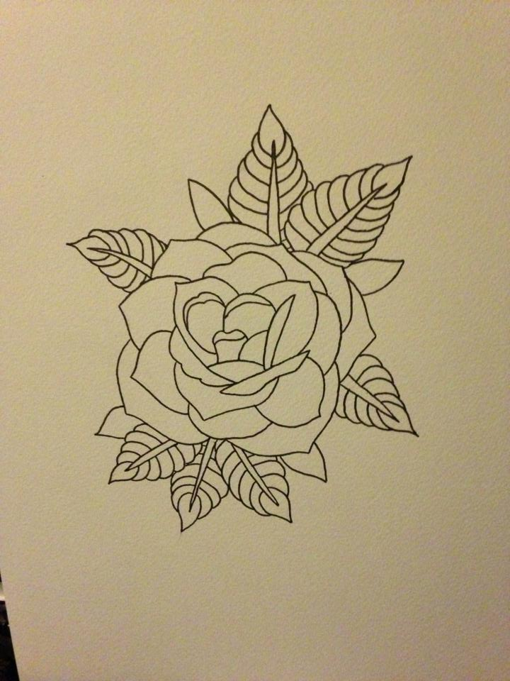 Black rose linework by beyondedge on deviantart for Tattoo line work