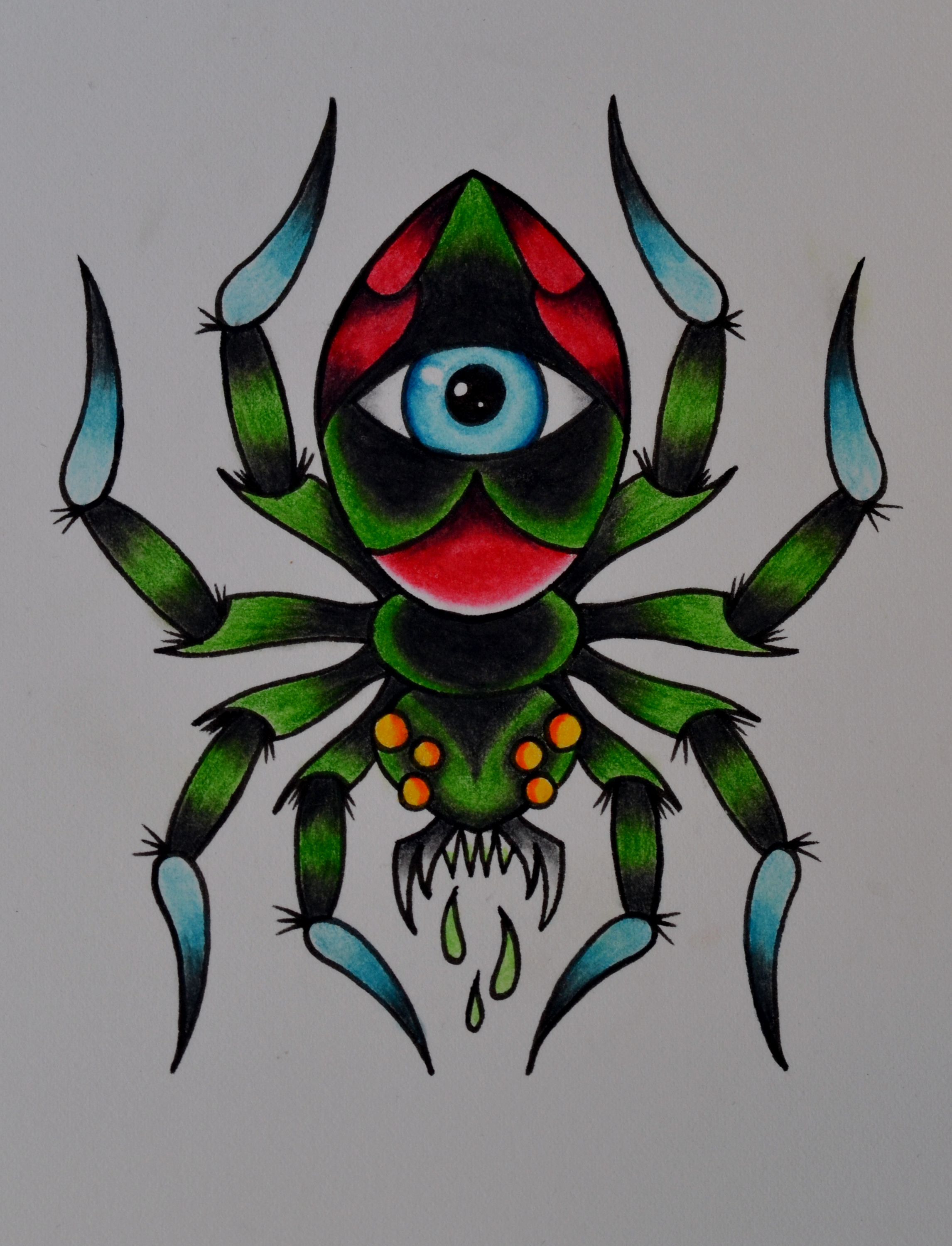 Spider by beyondedge on deviantart for Traditional old school tattoo designs