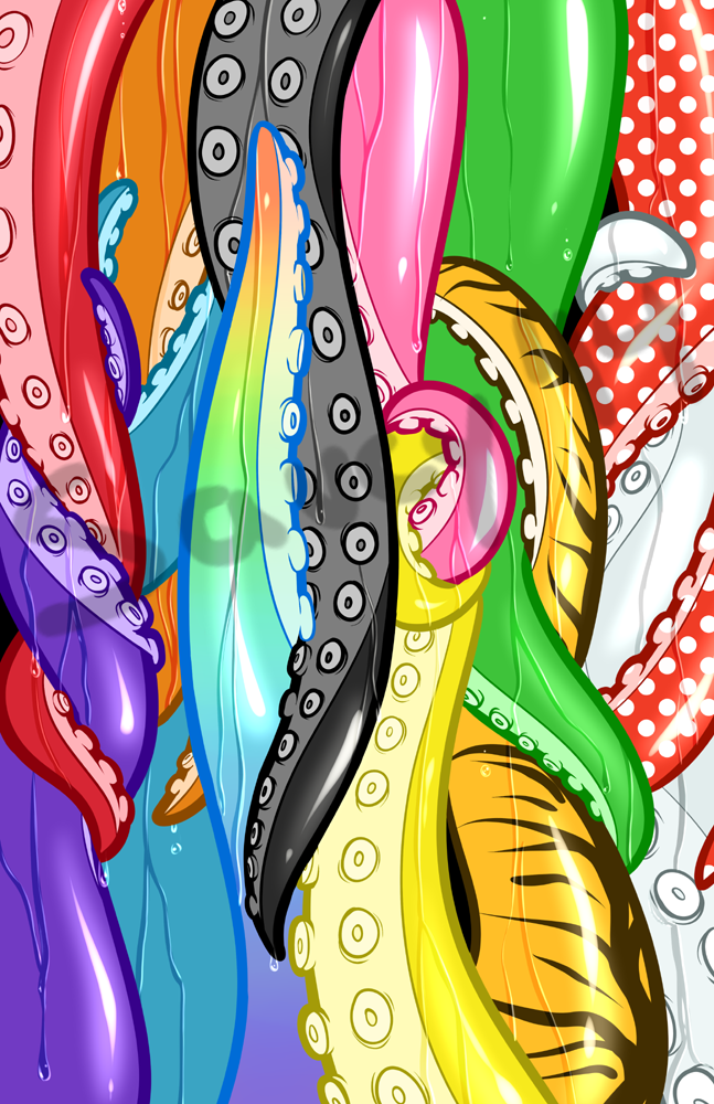 Tentacles wall by SaucyMcFuzzy