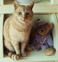 Lucky and teddy! by KawaiiDeathy