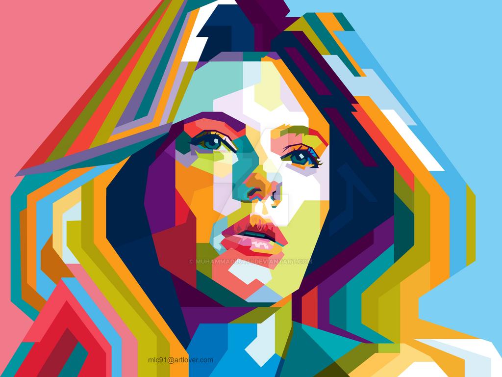 Scarlett Johansson in wpap by MuhammadLutfi