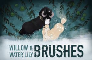 Custom Brushes | Weeping Willow and Water Lily
