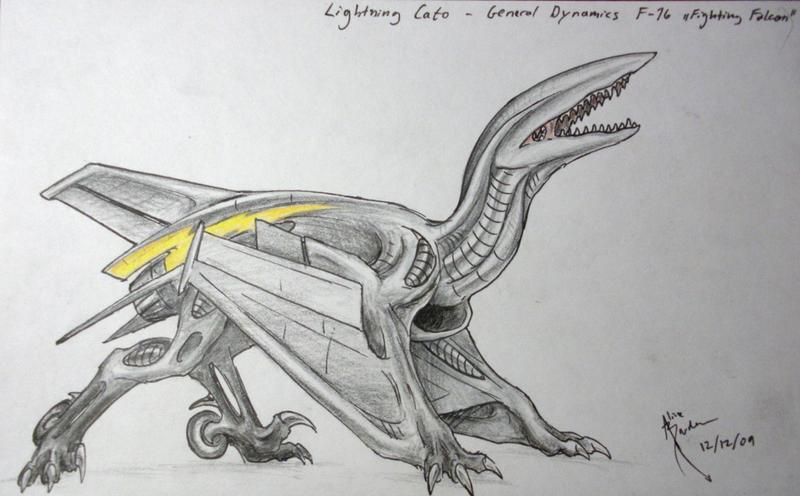 Lightning Cato - F-16 Aerosaur by Hydrothrax