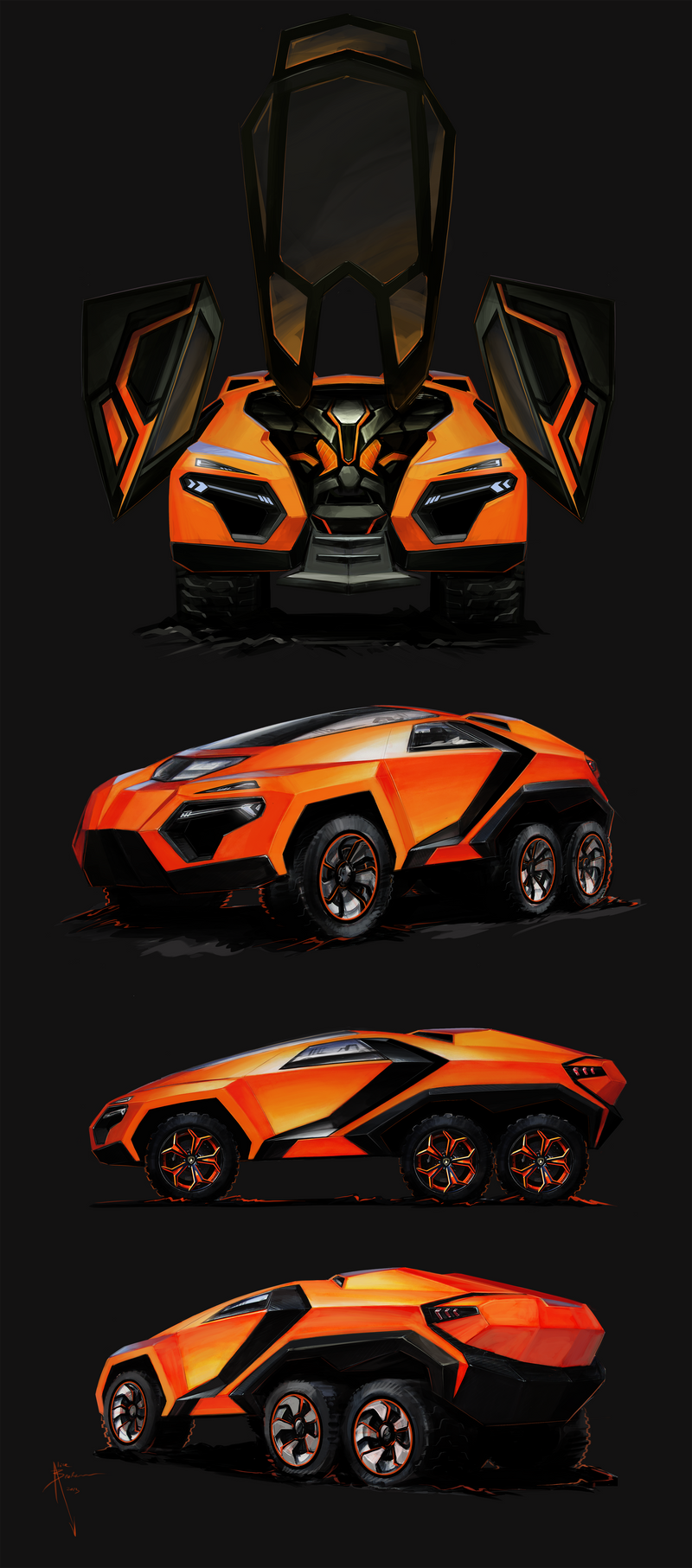 6x6 Lambo Renderings by Hydrothrax