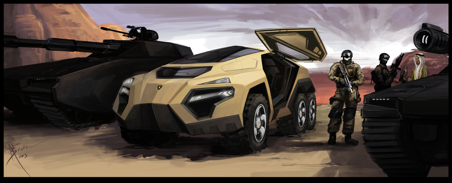 6x6 Armored Lambo by Hydrothrax