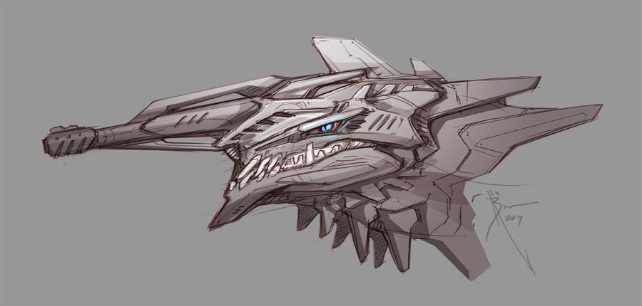GUNFACE DRAGONHEAD by Hydrothrax