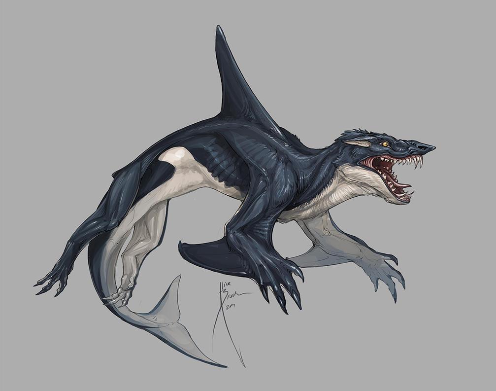 Shark hybrid drawing - photo#34