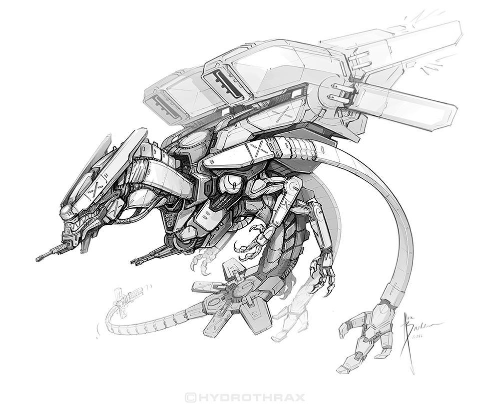 MechDragon by Hydrothrax