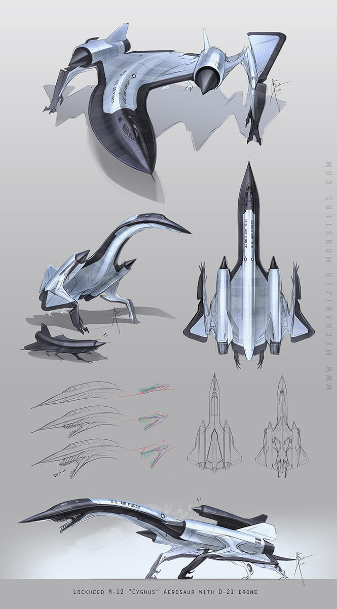 Lockheed M-21 (A-12) doodles by Hydrothrax