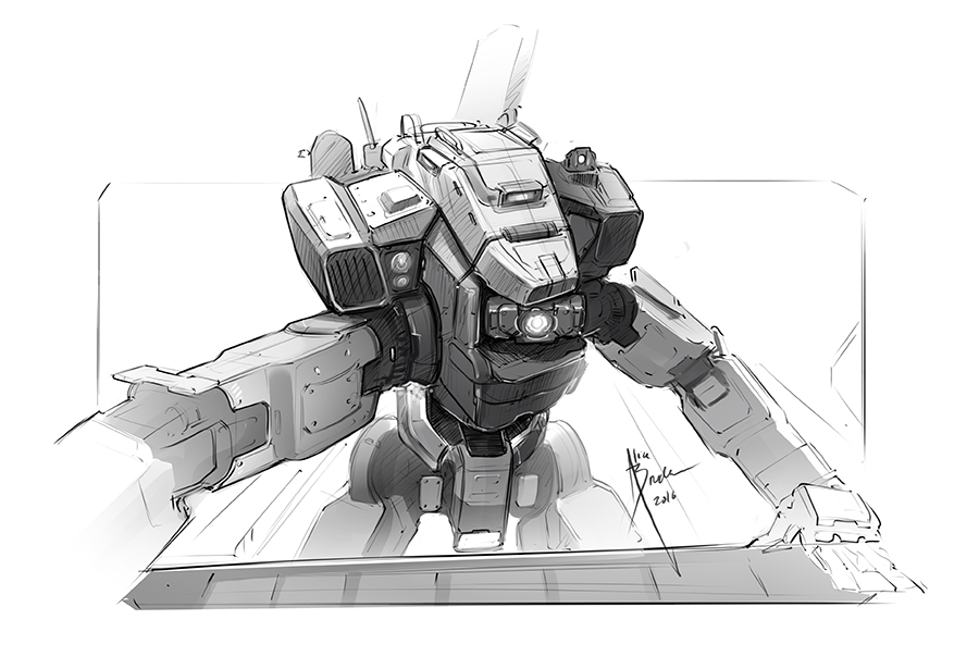 BT-7274 doodle-900 by Hydrothrax