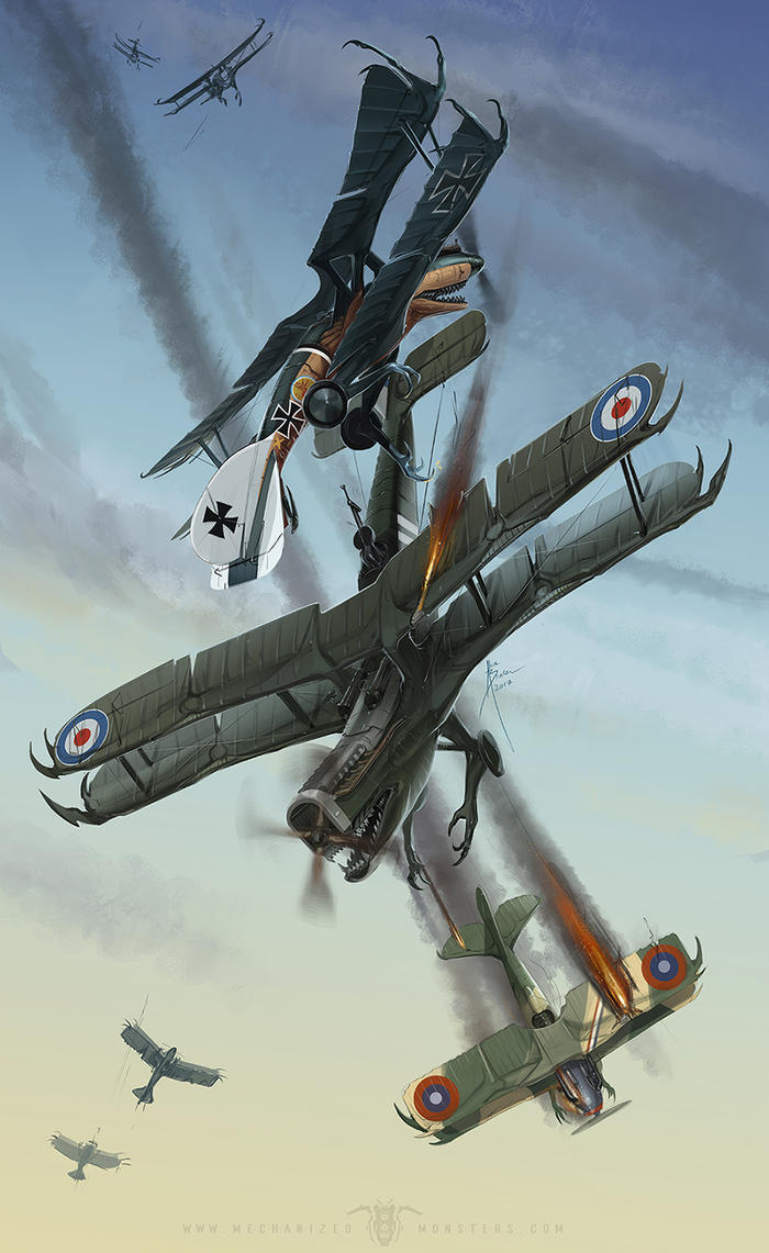 WWI Dogfight by Hydrothrax
