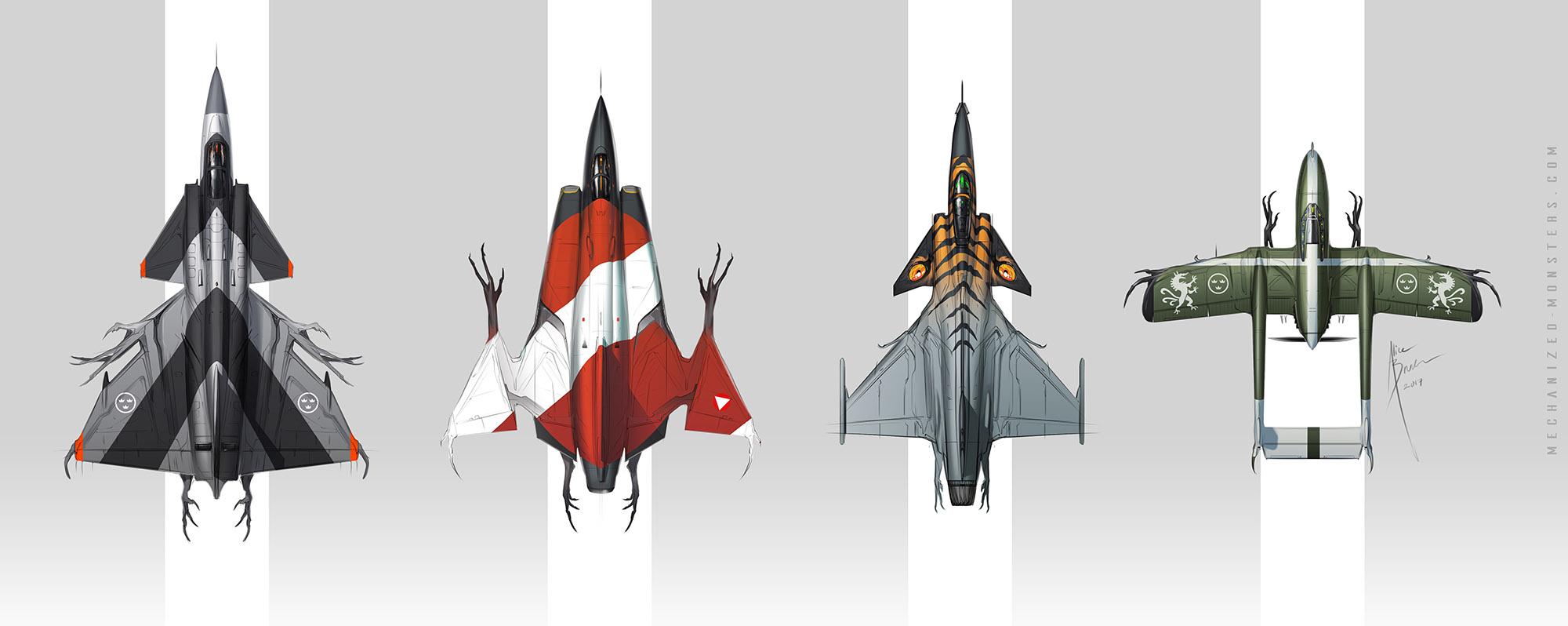 SAAB lineup by Hydrothrax