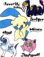 Favorite Pokemon by deathkokoro