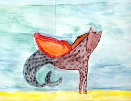 Flying SeaHorse w/ Cheetah Spots...? by deathkokoro