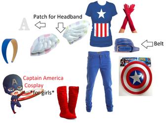 Captain America Costume **For Girls** by deathkokoro