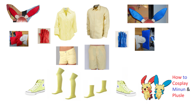 How to Cosplay Minun and Plusle Boy/Girl Versions