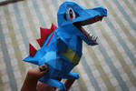 Totodile Papercraft by deathkokoro