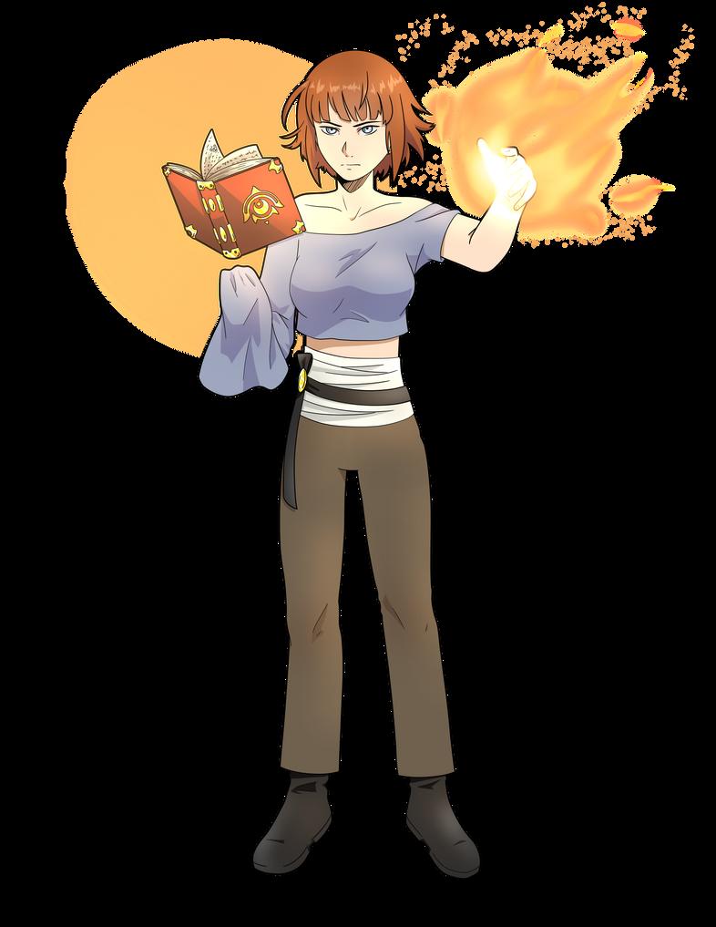 Fire mage by DraketheOtaku