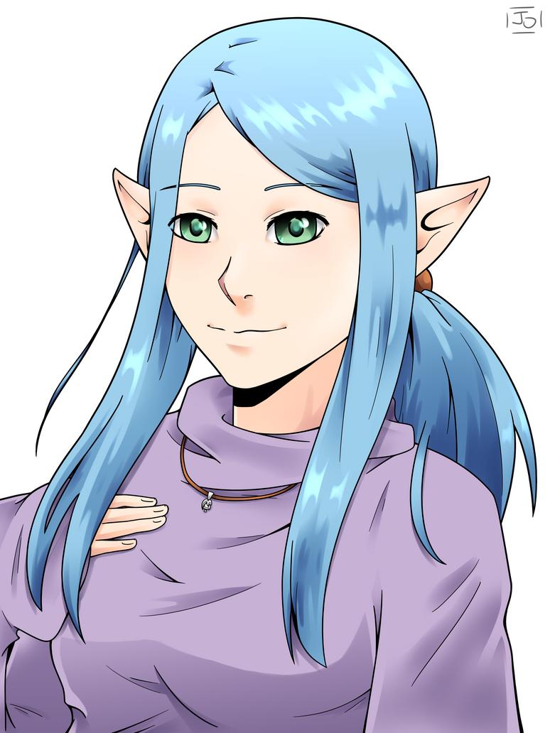 Kameko (original elf character) by DraketheOtaku