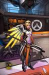 Overwatch Mercy by RaphaelBarker