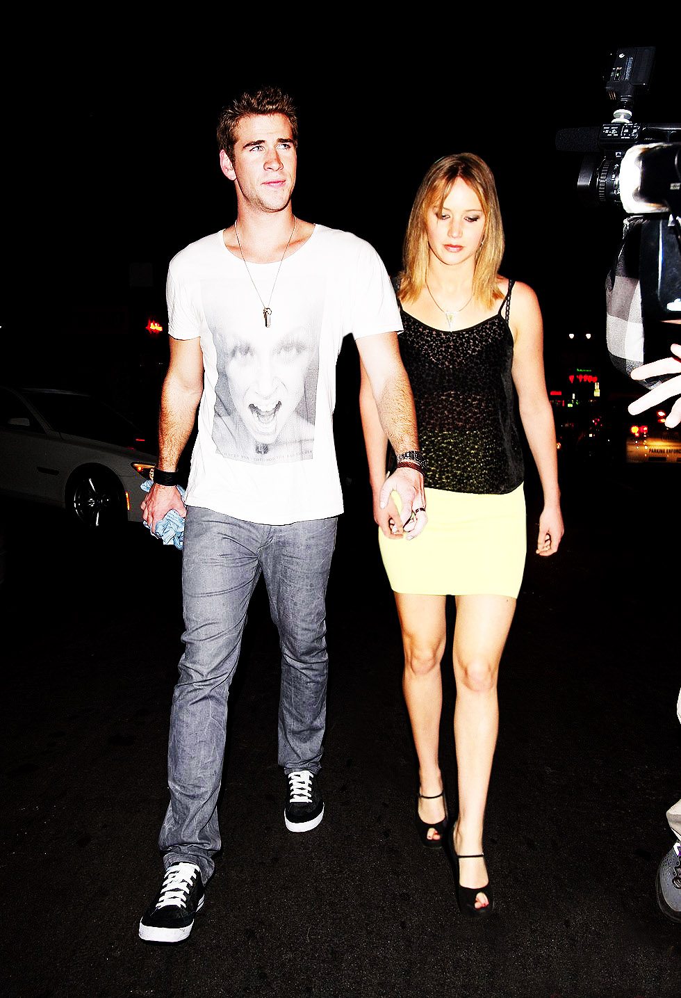 Liam Hemsworth and Jennifer Lawrence by ThatStarkLiam Hemsworth And Jennifer Lawrence