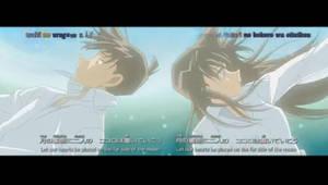 Ran and Shinichi- Falling down