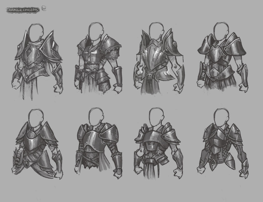 Armour concepts by Lascivio-Pipio