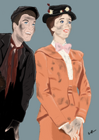 Bert And Mary by mozzkitty