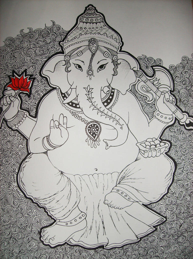 Indian elephant god drawing tumblr