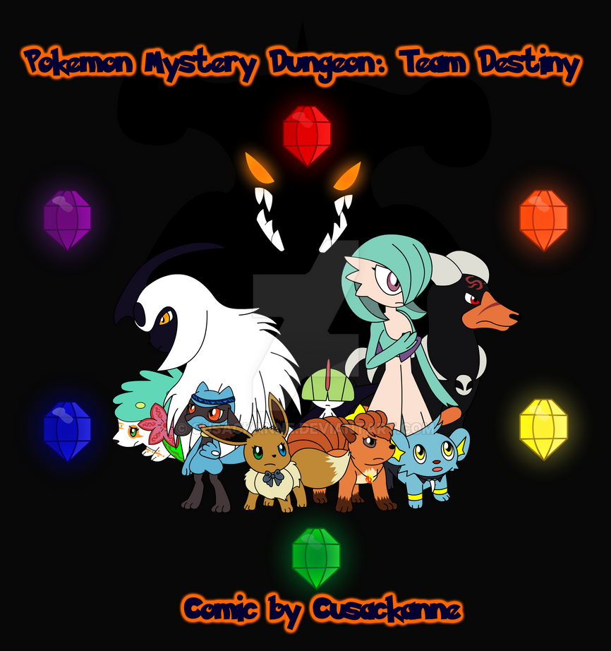 Pokemon Mystery Dungeon: Team Destiny Cover by cusackanne