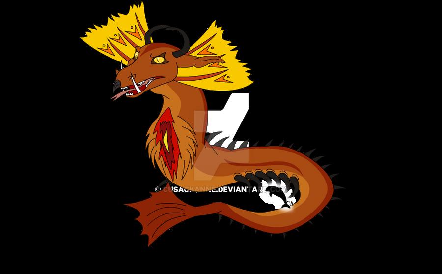 Xiuhcoatl The Lecherpede - Info and Battle Sheet by cusackanne