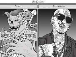 Un Demon : avant/maintenant by mothmanhoax