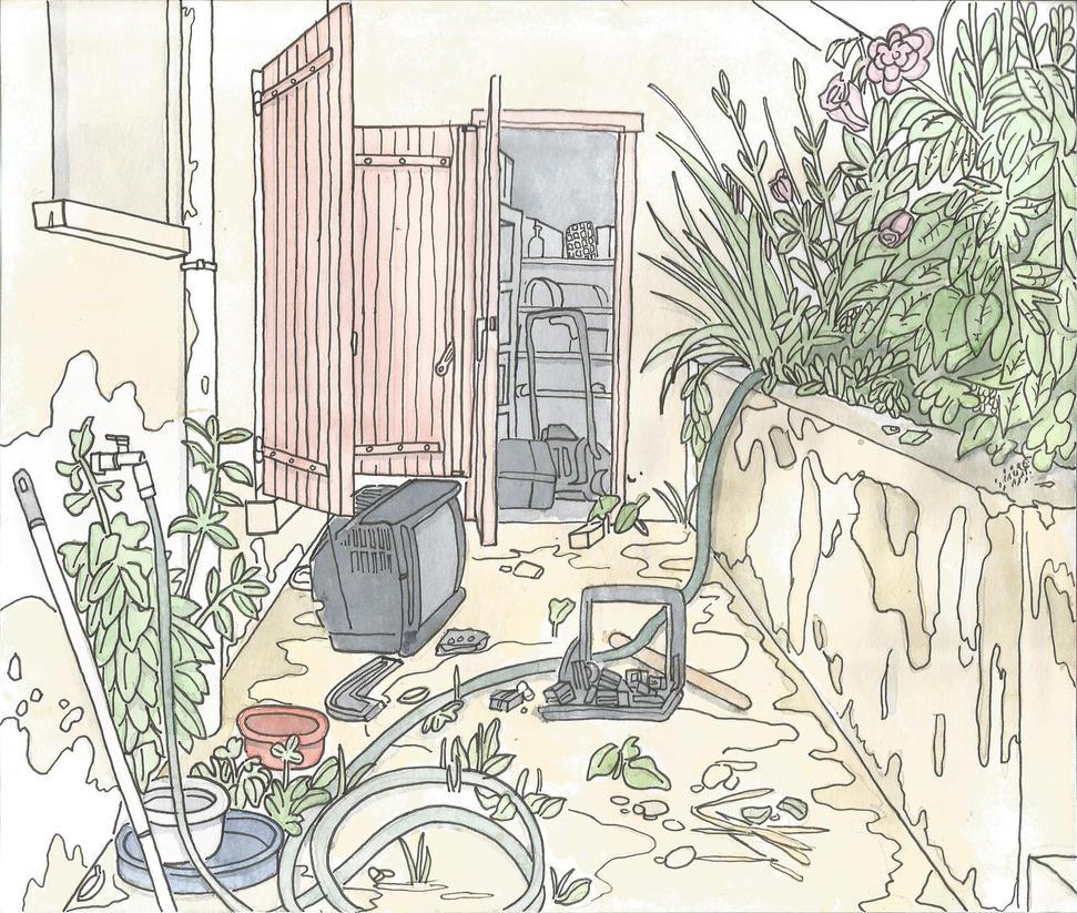 Croquis 5 le bordel dans mon jardin by mothmanhoax on for Bricoler dans le jardin