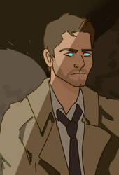Castiel by HootsTheOwls